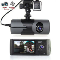 "2.7"" Vehicle Car DVR Camera Video Recorder Dash Cam G-Sensor Dual Len Camera"