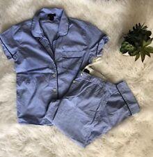 J Crew Vintage Short Sleeve Pajama Set in Blue ~ sz XS ~ Gorgeous!!