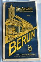 TASCHENPLAN MIT STRASSENVERZEICHNIS BERLIN DDR 1956 / S und U Bahn / Querformat