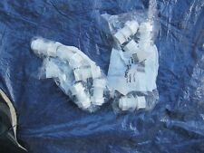 """2 X PACKS OF 5 X 3/4"""" TANK CONNECTORS WHITE FLOPLAST"""