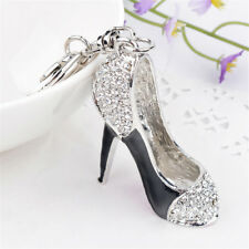 Chain Rhinestone Crystal Key Holder High Heel Shoes Key Rings For Women Gifts