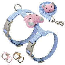 Cat Harness with Leash set for Walking Escape Proof Cute Small Large Cat Vest