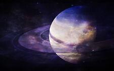 Incorniciato stampa-pianeta SATURNO (foto poster arte SPAZIO UNIVERSO GALASSIA TERRA)