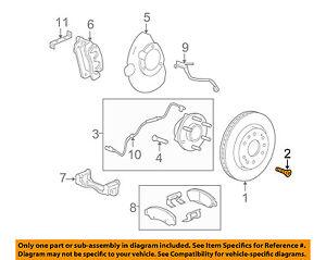GM OEM Brake-Front-Rotor Bolt 11609271