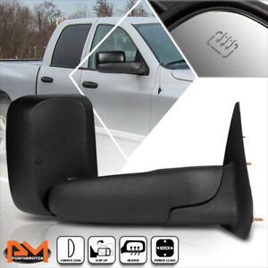 For 02-09 Dodge Ram 1500/2500/3500 Powered+Heated Black Side Towing Mirror Right