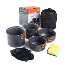 Camping Aluminium Pot and Pan Set Outdoor Cookware Tableware for 2-3 Person