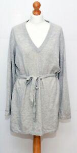 Grey Cashmere Jumper Knit Dress Size 18 UK ** Repairs