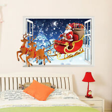 3D Christmas Deer Car Room Home Decor Removable Wall Stickers Decals Decoration