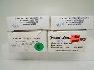Grandt Line HOn3 lot of 4 Freight car kits