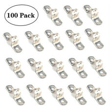 100PCS M25 Two Hole Stainless Steel Supporter Saddle Clamp Clip Tube Pipe Strap