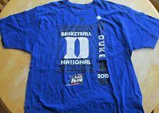 Adidas Men's Duke Basketball 2015 Championship Shirt Final Four XL