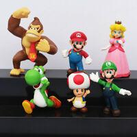 6Pcs/set Super Mario Bros PVC Action Figure Toys Kids Collectible Toy Gift UK