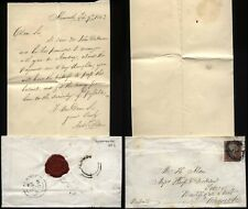 More details for 1852 alnmouth post office undated cancel,1d red, letter andrew robson to alnwick