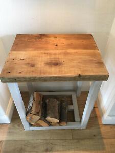 Wood log storage table