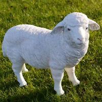 Standing Sheep Figure Lamb Garden Statue Farm Animal Resin Patio Lawn Ornament
