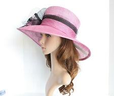 "High Quality Church Kentucky Wedding Sinamay 5.5"" Wide Brim lavender hat 2-85"