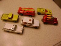 vintage lesney matchbox lot early 70s cars - 6 cars total