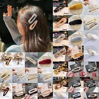 Women Fashion Pearl Plush Barrette Hairpin Hair Clip Stick Hair Accessories Gift