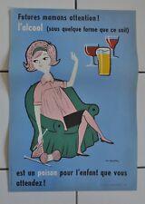 FIX MASSEAU Affiche originale 1965  Futures Mamans attention !