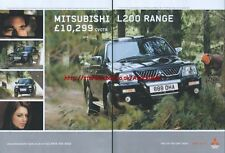 Mitsubishi L200 Range 2005 Double Page Magazine Advert #2137