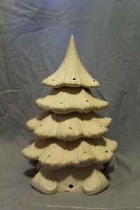 """Rare Christmas Tree & Base 16""""  Style B Ceramic Bisque Ready to Paint"""