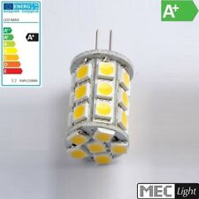 G6,35/GY6,35 LED Stiftsockel-Zylinder 27x 3-Chip-SMDs 328Lm 3,2W pur-weiß