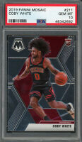 Coby White Chicago Bulls 2019 Panini Mosaic Basketball Rookie Card #211 PSA 10