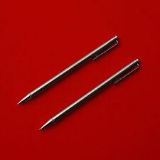 2 Pcs Zebra TS-3 Mini Mechanical Pencil 0.5mm Silver Japan