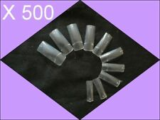 500 TIPS CAPSULES TRANSPARENTES FAUX ONGLES GEL UV
