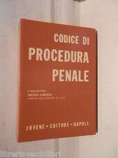 CODICE DI PROCEDURA PENALE Nicola Carulli Jovene 1972 Libro di Diritto giuridica