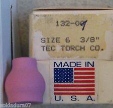 "Tobera Ceramica Soldar TIG  132.01 GENUINE TEC Soldadura size 6 - 3/8"" Made  USA"