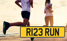 R123 RUN Runner Running Personalised Registration Cherished Number Plate