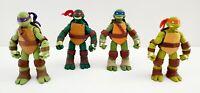 2012 Viacom Playmates TMNT Teenage Mutant Ninja Turtles Action Figures Lot of 4