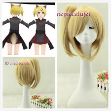 Vocaloid Kagamine Rin / Len Hard-R.K.mix Cosplay blonde Wig with Clip Ponytail
