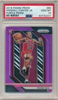 WENDELL CARTER JR 2018/19 PANINI PRIZM RC PURPLE PRIZMS SP #/75 PSA 10 GEM MINT