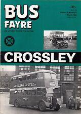 "Magazine ~ ""Bus Fayre"" Vol 7 No 9: 1985 - History of Crossley Motors: Manchester"