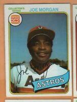 1980 Topps Burger King -  #30 Joe Morgan - Houston Astros - nrmt/mint