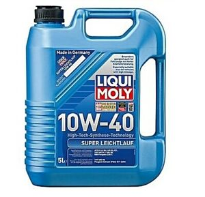 Liqui Moly 10W/40 Super Leichtlauf High-tech synthetic 5lt Engine Oil 9505