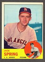 1963 Topps Baseball #572 Jack Spring Los Angeles Angels - 7th Series