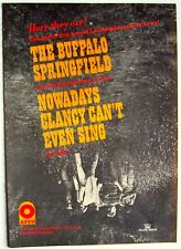 neil young Buffalo Springfield 1966 Poster Ad Nowadays Clancy Can'T Even Sing