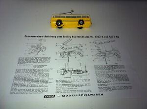 Eheim/Brawa Trolley Bus gelb/beige  sehr guter Zustand geprüft
