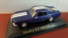 1968 Shelby GT-500 Mustang Dark Blue & White - 1:43 scale