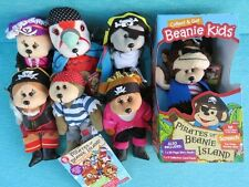 BEANIE KIDS - PIRATES OF BEANIE ISLAND COLLECT & GET SCREECH ELIZA CAPTAIN WOODE