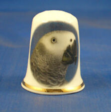 Birchcroft Thimble -- Pets -- Grey Parrot --   Free Dome Box