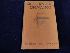 Vintage Mechanical Drawing French Svensen HB 1940 300pg Book 4th Edition   A61