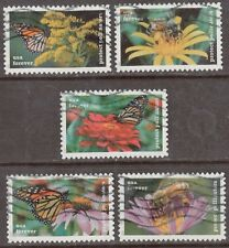 Scott #5228-32 Used Set of 5, Protect Pollinators (Off Paper)