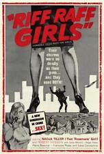 RIFF RAFF GIRLS Movie POSTER 27x40 Nadja Tiller Robert Hossein Silvia Monfort