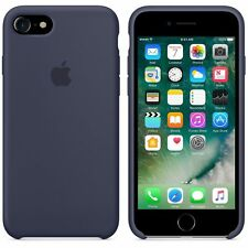"Genuine Soft Silicone Case for Apple iPhone 7 4.7"" in Midnight Blue"