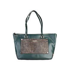 Cavalli Class Handtasche, Shopper, Schultertasche, grün, leo