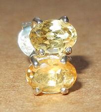 CITRINE Gemstone STERLING SILVER  Post Back EARRINGS  5 x 3 mm  NEW!